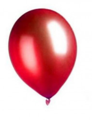 100 metallröda ballonger 29 cm - Kalasdekor