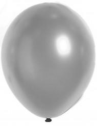 100 silvriga metallfärgballonger - Julpynt