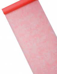 Röd bordslöpare av nättyg