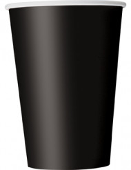 10 svarta pappersmuggar 335 ml