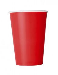 10 röda pappmuggar 355 ml