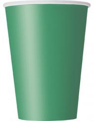 10 smaragdgröna pappersmuggar