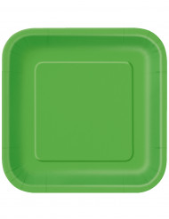 14 limegröna kartongtallrikar 33 cm - Kalasdukning