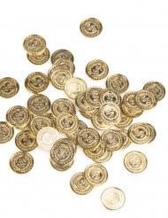 144 guldfärgade mynt