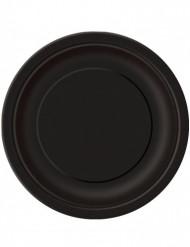 16 svarta papperstallrikar 22 cm