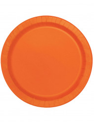 16 stora orange papperstallrikar 22 cm