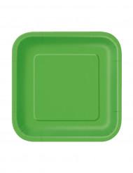 16 limegröna kartongtallrikar 18 cm - Festdukning