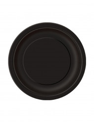 20 små svarta papperstallrikar 18 cm