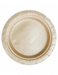 20 små guldfärgade pappersassietter
