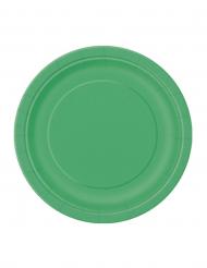20 små gröna kartongtallrikar 18 cm
