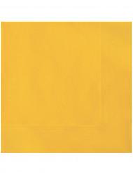 20 gula pappersservetter 33 x 33 cm