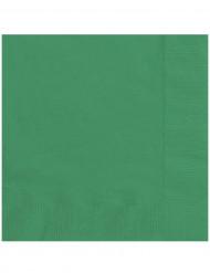 20 smaragdgröna pappersservetter 33 x 33 cm