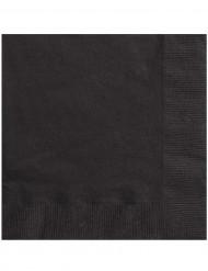 50 svarta servetter 33 x 33 cm
