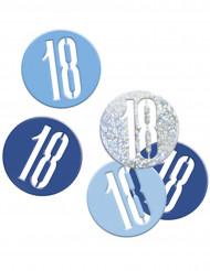 Blått konfetti till 18-årsfesten