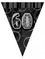Vimplar med tryck av siffran 60 - Girland till 60-årsfesten
