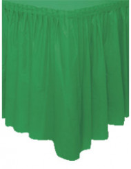 Smaragdgrön plastkappa för bord