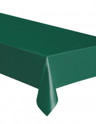 Rektangulär plastduk i mörkgrönt