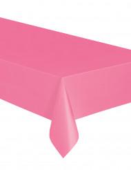 Rosa rektangulär duk i plast till kalaset