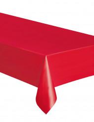 Röd bordsduk av plast 137x274 cm