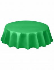 Smaragdgrön rund bordsduk i plast
