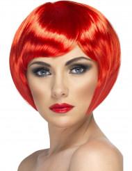 Kabaré Peruk Kort rött hår