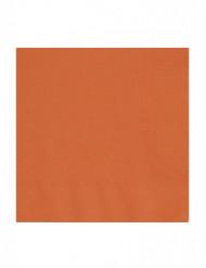 50 orangefärgade servetter 33 x 33 cm