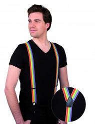 Regnbågsfärgade hängslen för vuxna