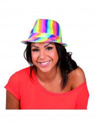 Paljettklädd hatt i regnbågensfärger - Maskeradhattar