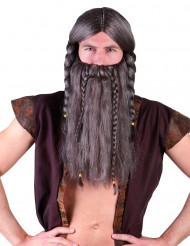 Vikinga hövdingen - Peruk och skägg för vuxna
