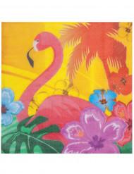 12 pappersservetter med Rosa Flamingo 33 x 33 cm