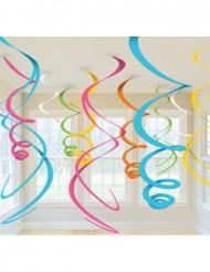 Multifärgat hängande partypynt