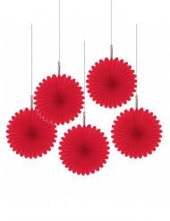Röda blomdekorationer