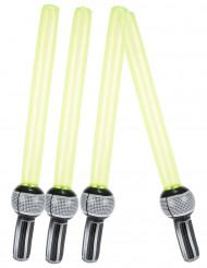 4 Uppblåsbara lasersvärd i plast