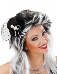 Hög hatt i miniformat med skeletthand vuxna