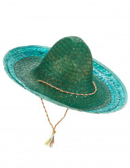 Grön mexikansk sombrero för vuxna