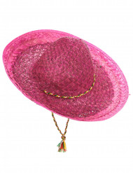 Rosa mexikansk sombrero för vuxna