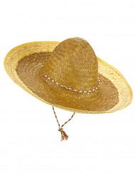 Gul mexikoinspirerad sombrero för vuxna