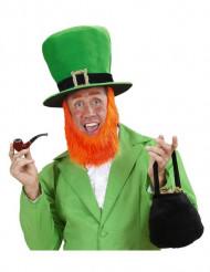 Stor cylinderhatt med skägg till St. Patrick