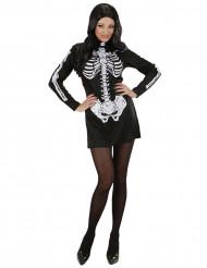 Skelettklänning - utklädnad vuxen Halloween