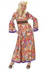 Lång Fredlig klänning - Hippiedräkt för vuxna