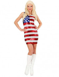 Glittrande miss USA-kostym