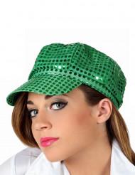Grön discokeps vuxna
