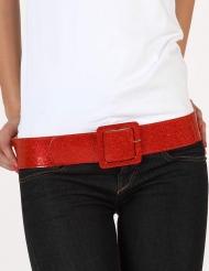 Glansigt rött bälte