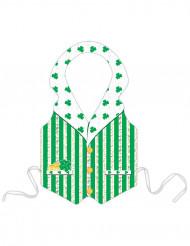Plastförkläde med grön Leprechaun St Patrick vuxna