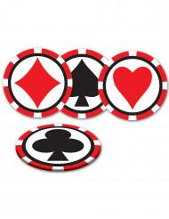 8 Kasino-underlägg 8,9 cm