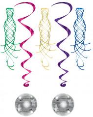 Spiralhängen med spegelboll och remmar