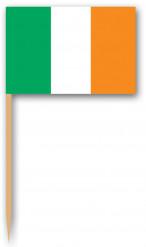 Tandpetare med irländsk flagga