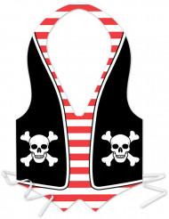 Plastförkläde pirat herrar
