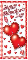 Dörr dekoration Alla hjärtans dag