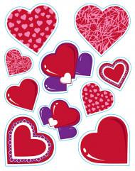Hjärtformade klistermärken